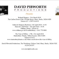 David Pibworth productions advert