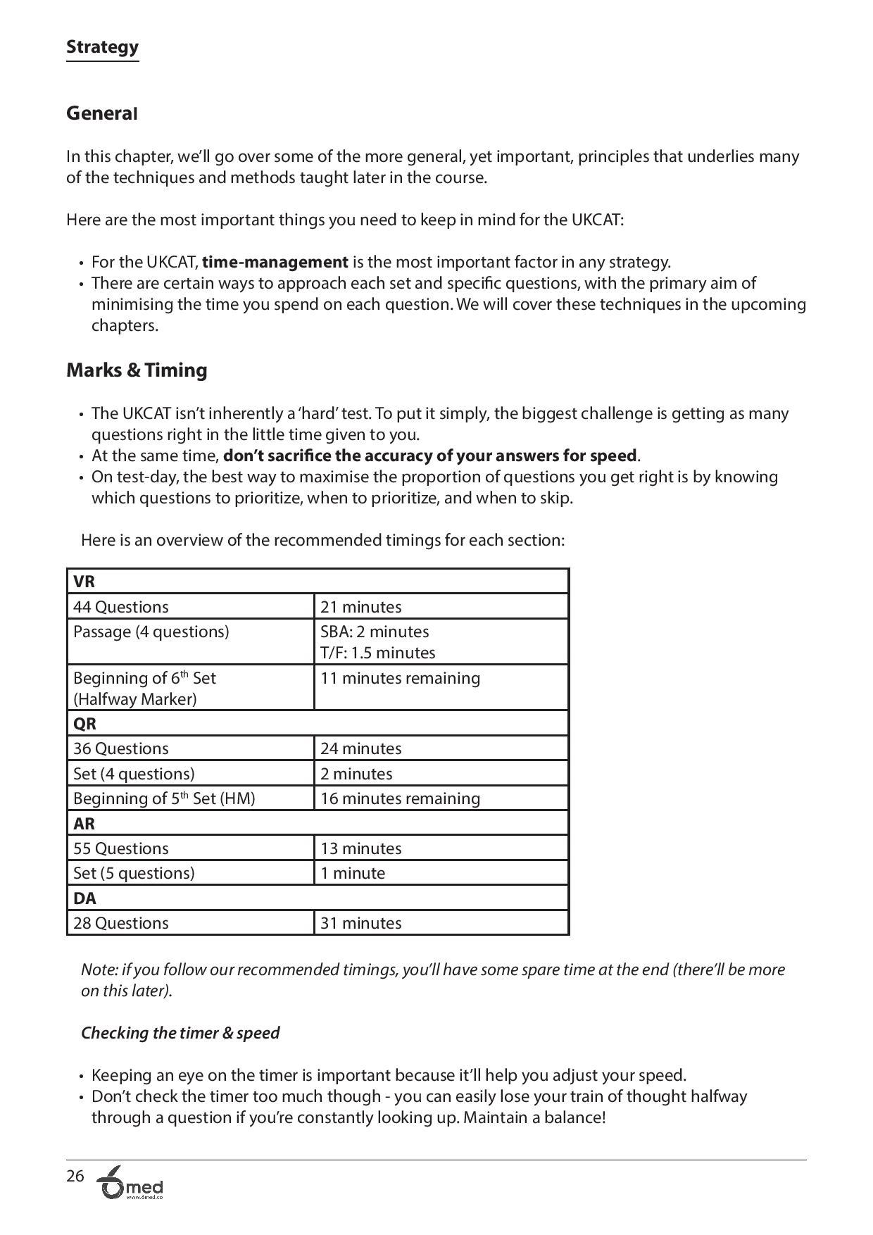 UKCAT Crash Course Handbook page 26