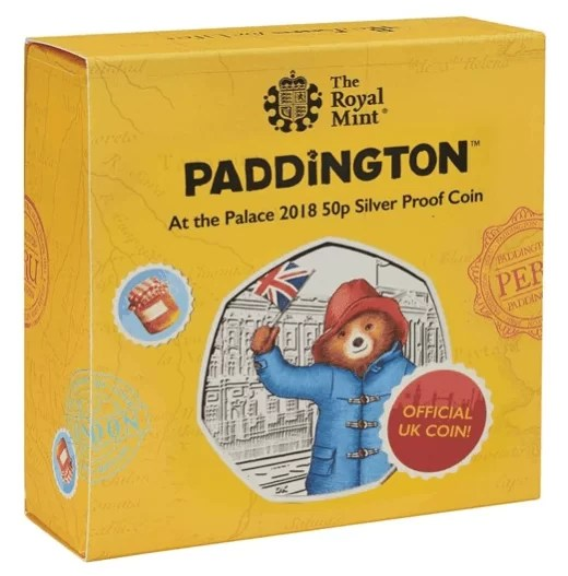 Paddington at the Palace 50p Silver Proof Coin