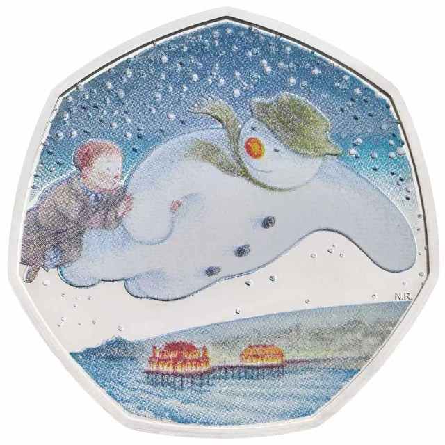 snowman 50p silver proof
