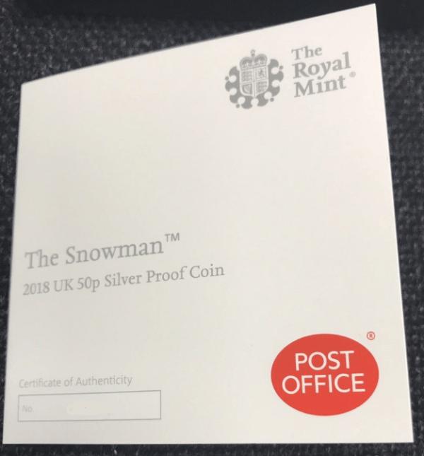 snowman post office coa