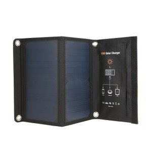 15W Portable Foldable Solar Panel Battery Charger Power Bank