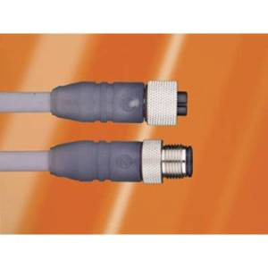 AlphaWire DR04AW105 SL357 Sensor/actuator cable M12 Plug, straight, Connector, right angle 3 m No. of pins (RJ): 4 1 pc(