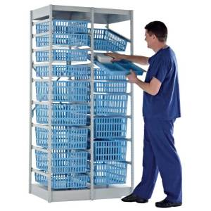 HTM71 Medical Storage System - 400mm W x 600mm D With 13 Baskets
