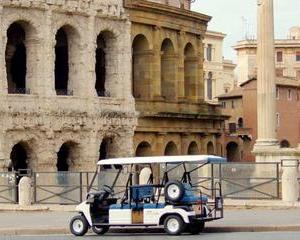 Private Golf-Cart Tour of Ancient Rome with Virtual Reality Headset