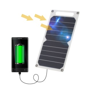 Ultra Thin Solar Charger Panel with USB Ports