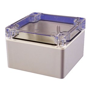 Hammond 1554E2GYCL Watertight PC Enclosure Clear Lid 90 x 90 x 60m...