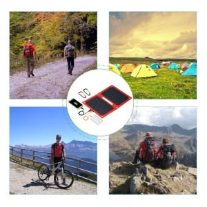 12W 5V Dual USB Solar Charger Portable Foldable Solar Panel for iPhone Tablet Power Supply
