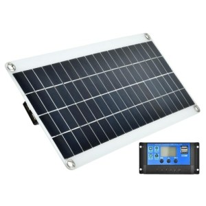 20W 5V Portable Double USB Port Flexible High Efficiency Sunpower Polycrystalline Solar Panel Power Kit with Controller