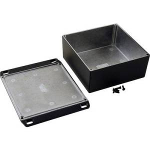 Hammond Electronics 1590KKFLBK Universal enclosure 125 x 125 x 56 Aluminium Black 1 pc(s)