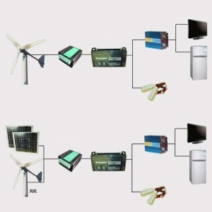 5 Blades 400W Small Wind Generator Fit For Home Lights Boat Wind Controller Maximum Power Point Tracking Type LS3