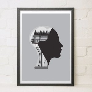 Ex Machina Scifi Movie Poster A3 Modern Minimal Giclee Fine Art Illustrated Print Home Decor For Film Fans Robots Androids Cinema Wall