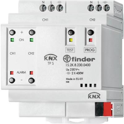 Finder KNX 15.2K.8.230.0400 Multi-purpose dimming actuator 2-channel 15.2K.8.230.0400