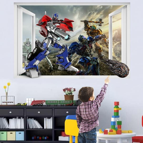 Superheroes Robots Wars Transformer Wall Sticker Art Poster Mural Transfer Decal Print Boys Room Home Nursery Office Shop Decor Id356