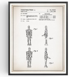 star Wars Ig-88 Patent Print - Robot Gift Movie Art Home Cinema Decor Man Cave Unsigned