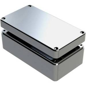 Deltron Enclosures 487-261612A-66 Universal enclosure 260 x 160 x 120 Aluminium Grey 1 pc(s)
