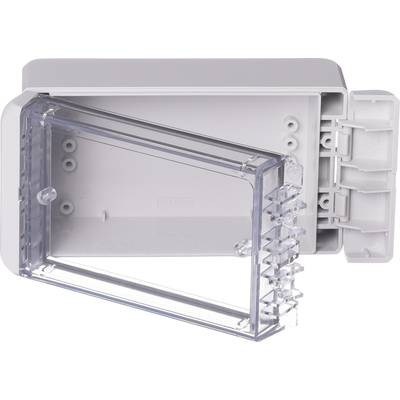 Bopla Bocube B 140806 PC-V0-G-7035 Wall-mount enclosure, Fitting bracket 80 x 151 x 60 Polycarbonate (PC) Grey-white (RAL 7035) 1 pc(s)