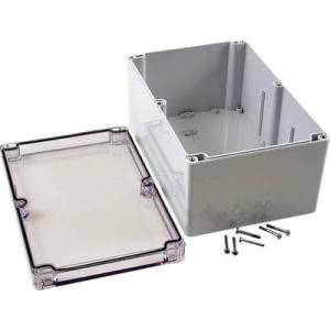 Hammond Electronics 1554VB2GYCL 1554VB2GYCL Universal enclosure 240 x 160 x 120 Polycarbonate (PC) Grey, Clear 1 pc(s)