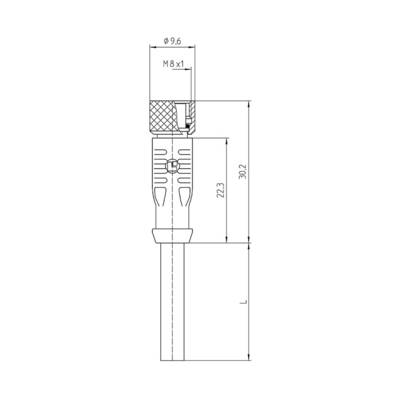 Lutronic 1003 Sensor/actuator connector (pre-fab) M8 Connector, straight 2.00 m No. of pins (RJ): 3 1 pc(s)