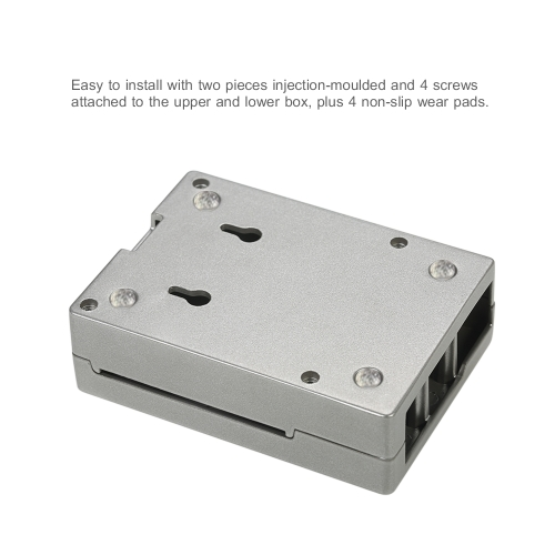 Aluminum Alloy Protective Case Housing Shell Enclosure Box for Raspberry Pi 3, Pi 2 and B+
