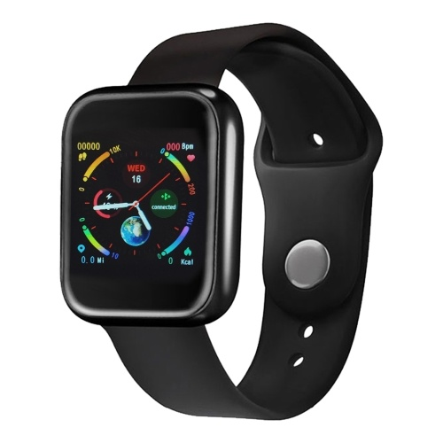 P70 1.3'' Smart Watch with Steel and Replaceable TPU Band