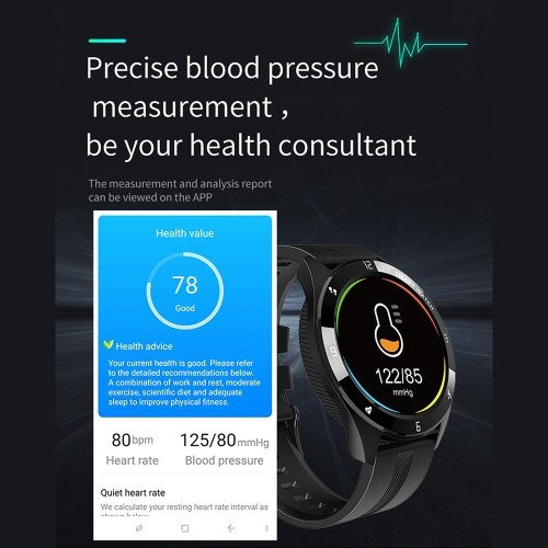 Q85 1.28 Inch Touch Smart Watch Heart Rate Monitoring Sports Watches