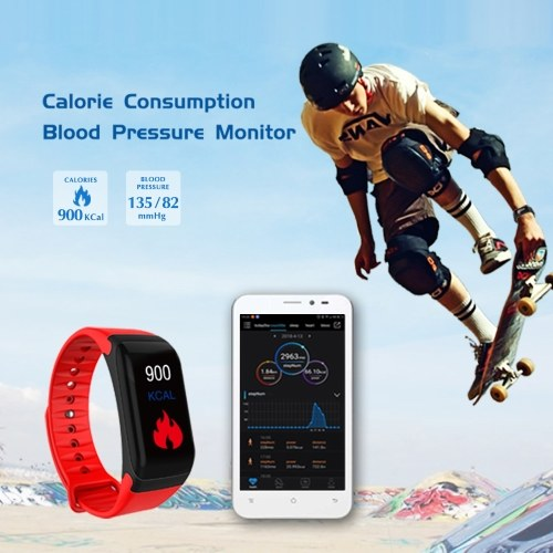 Sports Smart Bracelet Heart Rate Monitor Blood Pressure Blood Oxygen Fitness Tracker Sports Wristband Waterproof Smart Watch