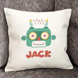 Personalised Robot Cushion Cover 40cm, Home Decor, Furnishings
