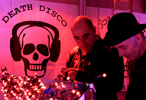 BP Fallon (right) DJing at his Infamous Death Disco