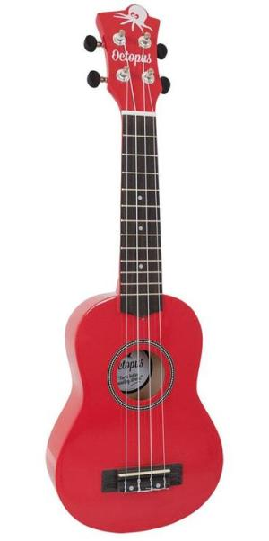 Octopus metallic series soprano ukulele Red