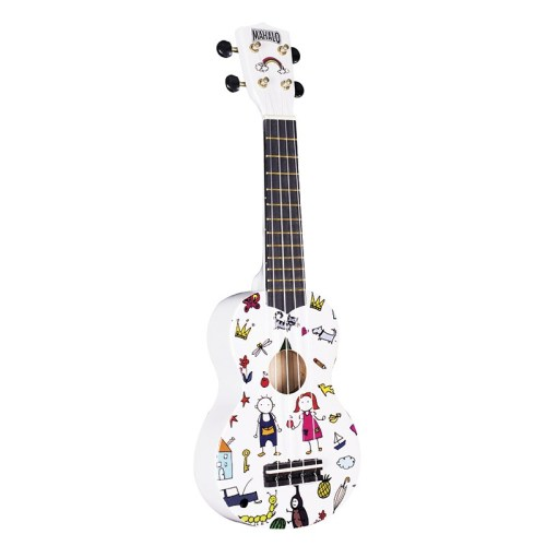 Mahalo Soprano Ukulele Art Design Amigo With Bag