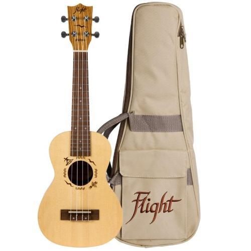 Flight DUC525 Concert Solid Top Ukulele Zebrawood