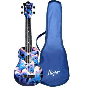 Flight TUS40 ABS Travel Soprano Ukulele Graffiti