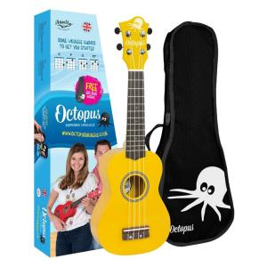 Octopus metallic series soprano ukulele Yellow With Box