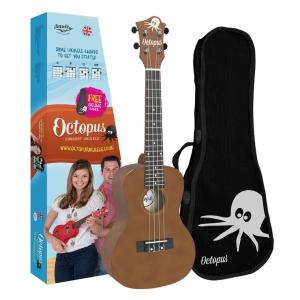 Octopus concert ukulele Brown natural