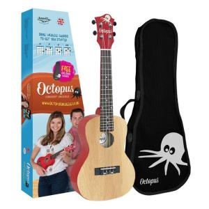 Octopus concert ukulele Yellow natural