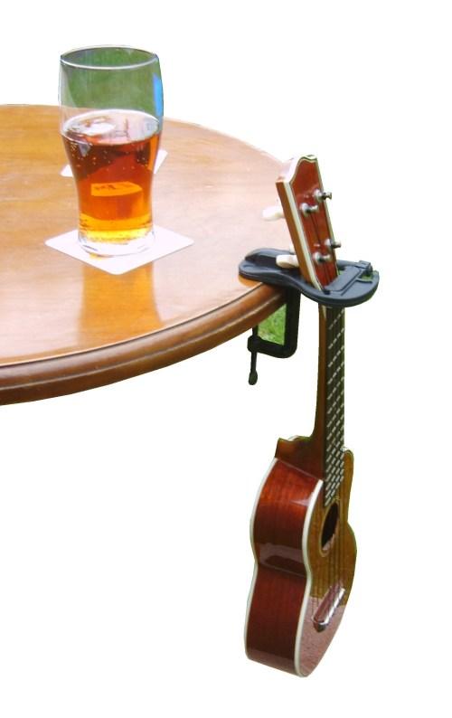 Pub Table with Uke propped