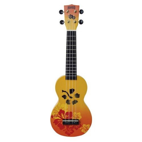 Mahalo Soprano Ukulele Hibiscus Orange
