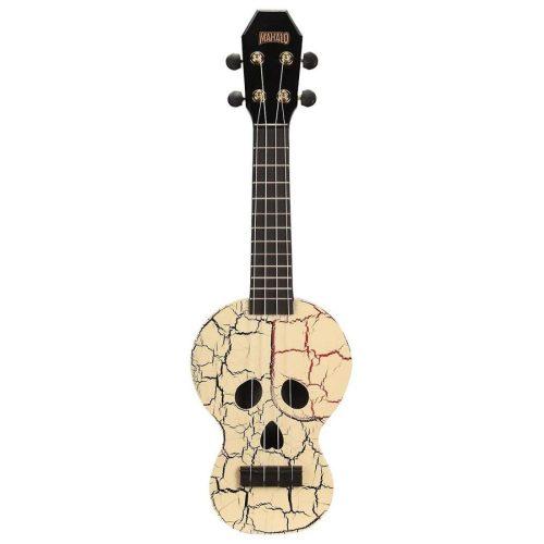 Mahalo Soprano Ukulele Skull Design