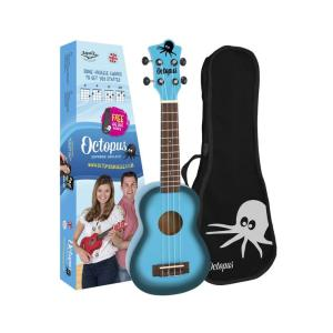 Octopus Soprano Ukelele Light Blue Burst