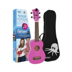 Octopus Soprano Ukelele Pink With Box