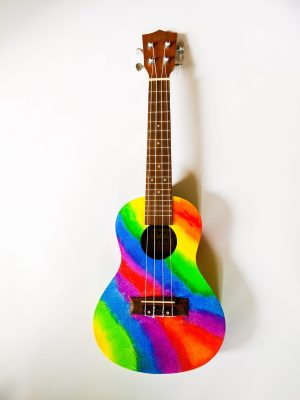 Hand Painted Rainbow Concert Ukelele