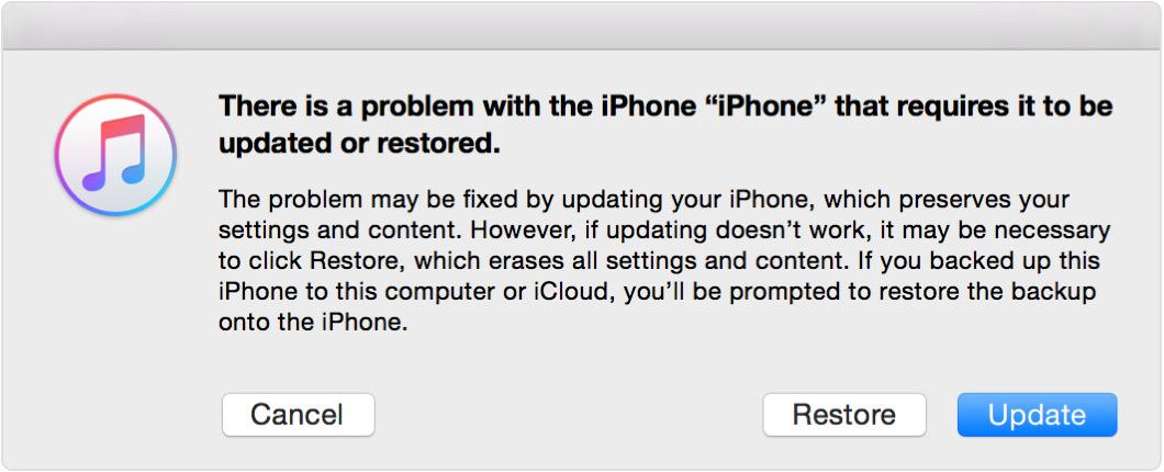 iTunes өшірілген iPhone қалпына келтіреді