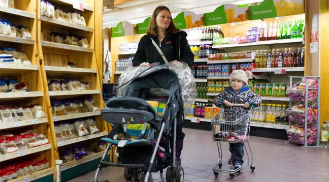 The supermarket is very well stocked and the girls always enjoy having a mini trolley to help with the shopping!