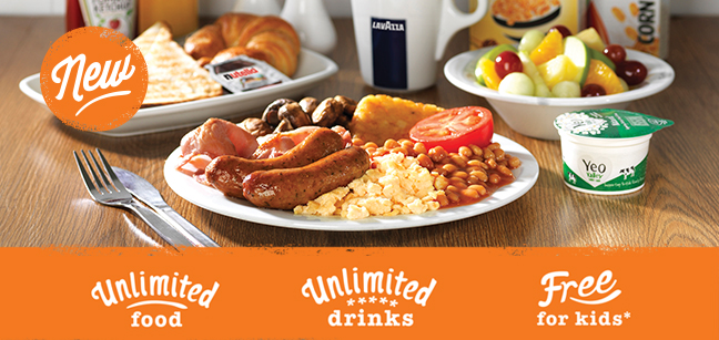 Travelodge - An unlimited all you can eat breakfast