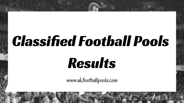 Football Pool Result Today