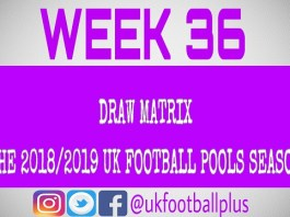 Week 36 UK Football Pools Draws 2019 | UK Football Pools