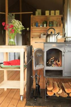 glamping stove