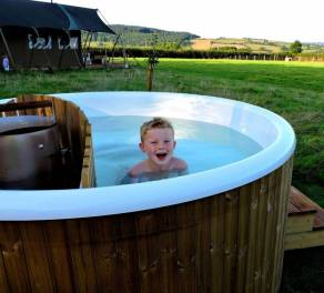 glamping with hot tub