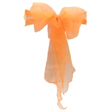 Chair Cover Hire With Orange Organza Sash